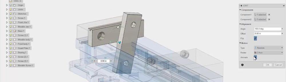 Anwendungsbeispiel Autocad Fusion 360 Software