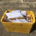 Über 300 Briefe erreichten das GarageLab e.V. mit Anfragen für unseren Mund-Nasenschutz-Bausatz