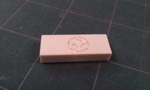 Der fertige Werkstück - unser GarageLab Logo